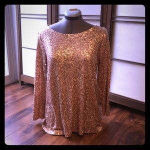 Rose Gold Long Sleeve Top